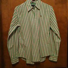 Ralph Lauren oxford Ralph Lauren slim fit oxford size 8. Only worn a couple of times. Ralph Lauren Tops Button Down Shirts
