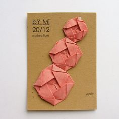 Origami Roses: Fabric Origami Rosettes on Sterling Silver by bYMi