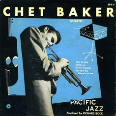 William Claxton, photography & graphic design for jazz record covers, 1952-54.