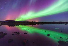 Photo Dancing in the dark - Aurora Borealis by Gunnlaugur  Valsson on 500px