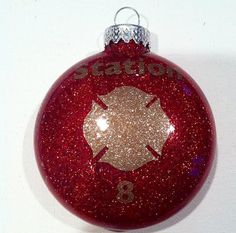 Fire Department Ornament by HooahHoneyHomemade on Etsy, $5.00