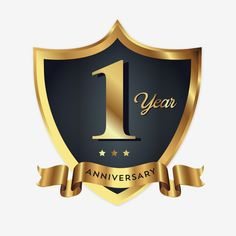 Anniversary Badge Logo Icon Vector and PNG 1st Wedding Anniversary Wishes, Anniversary Logo, Shield Vector, Protection Logo, Design Campaign, Badge Icon, Ribbon Logo, Love Logo, Badge Logo