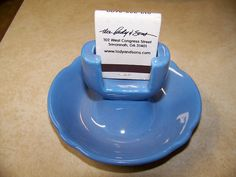 Vintage Hall Blue Match Holder Ashtray