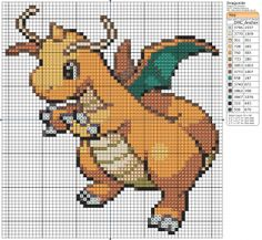 sandylandya@outlook.es  Dragonite  This is the Hubby's favourite pokemon, I am thinking about doing this as a gift for him :)