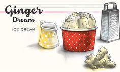 Ginger Dream Ice Cream                              -                                  Vanilleglace mit erfrischendem Ingwer
