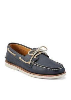 Sperry Navy Gold Boat Shoe