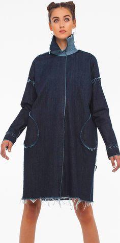 Norma Kamali Spring 2016 Skirt Pants, Jean Skirt, Sewing Jeans, Womens Denim Dress, Denim Ideas, Denim Cotton, Recycled Denim, My Jeans, Jean Outfits