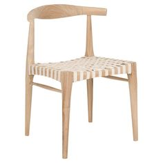 Teak wood side chair with a woven seat.   Product: ChairConstruction Material: Plantation teak wood...
