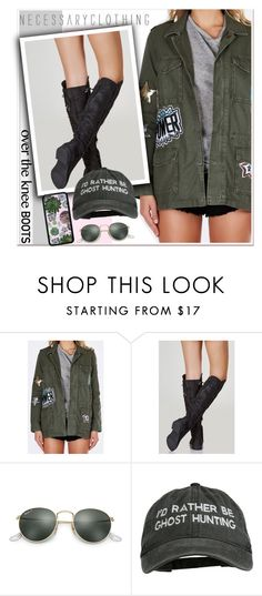 """Fall Footwear: Over-The-Knee Boots"" by paculi ❤ liked on Polyvore featuring Ray-Ban, Fall and Boots"