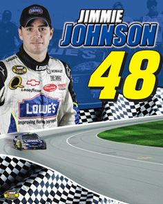 Jimmie Johnson Nascar fans, not just because his last name is the same as ours. Okay, that really is the reason.
