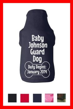 Custom Pregnancy Baby Reveal Surprise Dog Tank by TeesToPlease, $14.99