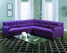 Purple Sectional Sofa | Living Room Decor