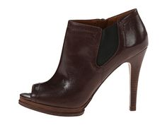 Nine West Sassy Dark Brown/Black Leather - 6pm.com