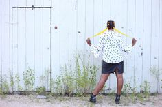 """Behold her Beauty - """"Femme Fatale"""" model: @JaziMcGill photo by @NextDimensional • Clothing: @akcollective #minneapolis #vintage #giraffe #print #yellow #outdoor #nature"""