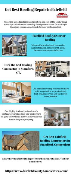 If you want to find a contractor to repair your roof? We provide the best service in CT for all of your and home exterior needs to enhance the home one at a time. Roofing Specialists, Roofing Companies, Fairfield County, Cool Roof, Roofing Contractors, Stamford, Roof Repair, Home Renovation, Connecticut