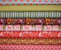 Entire Collection of Monaluna Meadow organic cotton fabric 8 Fat Quarter Bundle by Stork and Me.