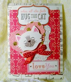 Thinking of You Handmade Card Anna Griffin Best in Show Cat Inspired 439 #ThinkingofYou