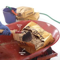 How to hand mix concrete so it delivers maximum strength and durability. Concrete mixing isn't complicated and it should last when done well. Concrete Mix Ratio, Types Of Concrete, Mix Concrete, Concrete Steps, Poured Concrete, Concrete Projects, Concrete Repair Products, Mixed Families, Garden Hoe