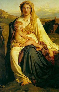 Paul Delaroche: María y el Niño, 1844.