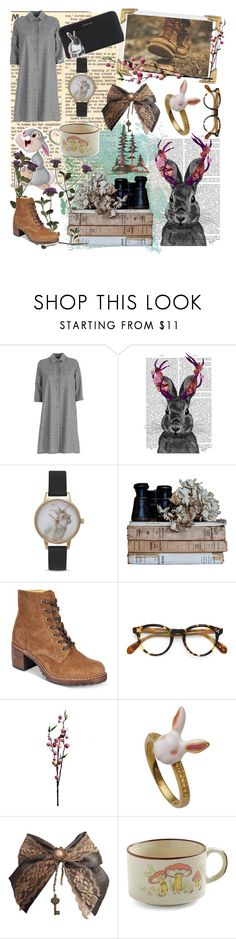 """""""Thumper"""" by magicbun ❤ liked on Polyvore featuring Ultràchic, Olivia Burton, Frye, Oliver Peoples, Wyld Home and sOUP"""