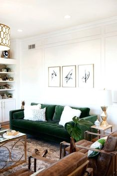 60 Comfy Colorful Sofa Ideas For Living Room Design. One of the most important furniture in a living room is the sofa set. However, there are different things to consider while shopping for these comf. Glam Living Room, Living Room Green, Cozy Living Rooms, Home And Living, Living Spaces, Small Living, Modern Living, Apartment Living, Minimalist Living
