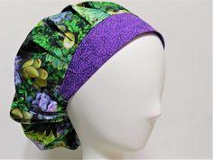 c468b0bc13b Scrub Cap Succulents Print Bouffant Scrub Hat for Women Women s Chemo Cap  Surgical hat Veterinarian Nurse Scrub Cap