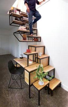 Pasillo, hall y escaleras de estilo  por Studio Mieke Meijer https://www.homify.com.mx/libros_de_ideas/3106905/20-disenos-de-escaleras-que-debes-ver-antes-de-renovar-la-tuya