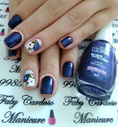 56 Modelos de Unhas de Pés e Mãos combinadas! Perfeito Fabulous Nails, Gorgeous Nails, Floral Nail Art, Pretty Tattoos, Flower Nails, Beautiful Nail Art, Blue Nails, Nail Trends, Nail Arts