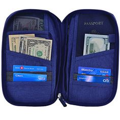 RFID resistant travel wallet and organiser. Keep your passport, tickets and cash safe, clean, dry and secure while preventing unwanted scans.