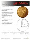 Here's a great worksheet for teaching your kids all about the planet Mercury. Did you know that it's the smallest planet in our solar system?
