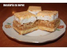 Prajitura cu mere si bezea - Bucataria cu noroc Noroc, French Toast, Pie, Breakfast, Desserts, Torte, Morning Coffee, Tailgate Desserts, Cake