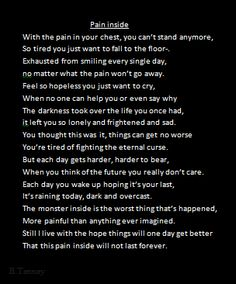 pain inside- a poem about depression