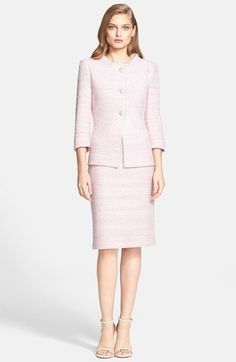 St. John Collection Micro Tweed Knit Sheath Dress | Nordstrom