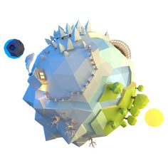 Little planet 2 by Alex Pushilin, via Behance