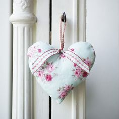 My little prince blue with white polka dot hanging heart plaque
