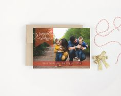 Warmest Wishes Christmas Photo Card by Paperelli