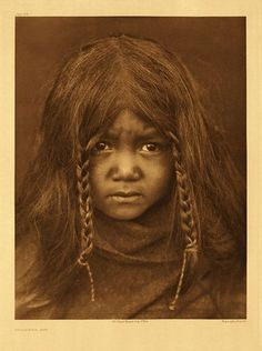 """A Native American Child""--Edward Curtis, 1906 She looks afraid and angry. She should be."