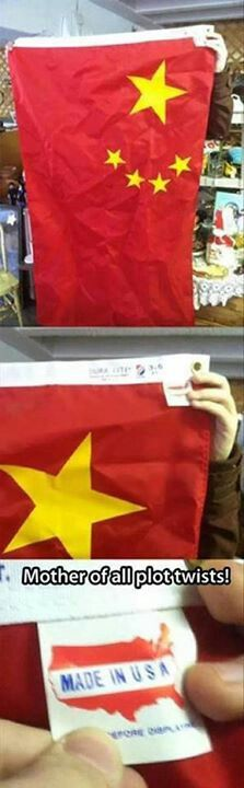 Chinese flag made in the US