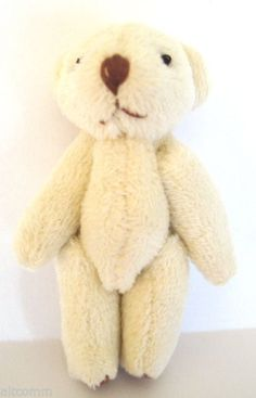 "Dollhouse Miniature Big Bear White Stuffed 2½""T - 1:12 Scale  New in Package #MiniatureWorld"
