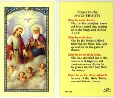 Prayer to the Holy Trinity