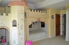 This is just an adorable little princess bedroom.