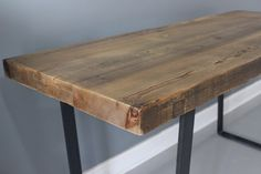 Desk, Dining Table, Industrial Desk, Reclaimed Wood, Industrial Steel, Thick Wood by DendroCo on Etsy https://www.etsy.com/listing/196825880/desk-dining-table-industrial-desk