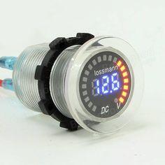 Car LED Voltage Meter 5-30V Digital Display Voltmeter Battery Detector