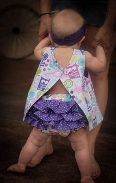 How CUTE is this?! Baby girl summer outfit. $52.00, via Etsy.