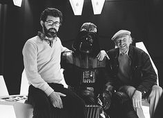 George Lucas, Irvin Kershner and David Prowse on the set of Star Wars: Episode V - The Empire Strikes Back (1980)