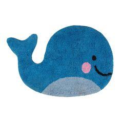 Sass Belle Cute Baby Happy Whale Floor Rug Home Bedroom Nursery Gift Decoration Whale Nursery, Nursery Rugs, Nautical Nursery, Wc Set, Playroom Rug, Childrens Rugs, Childrens Bedroom, Flamingo Gifts, Sass & Belle