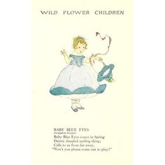 Wild Flower Children c1918 Baby Blue Eyes Canvas Art - Janet Laura Scott (18 x 24)