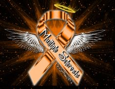 Multiple Sclerosis Ribbon Angel