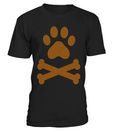 Golden Crossbones Shirt Paw Print Dog Lover Dog Dad Dog Mom