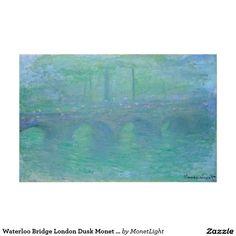 Waterloo Bridge London Dusk Monet Fine Art Poster